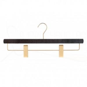 Kleshenger til bukser og skjørt i sortlakkert bøk med gullfarget metall Art RA40D-5