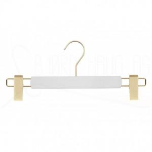Kleshenger til bukser og skjørt i hvitlakkert bøk med gullfarget metall Art RA35D-6